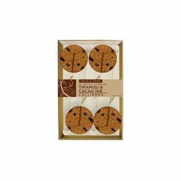 Tirimisu & Cacao Nib Gourmet Lollipops 4 Count Gift Box 3 Pack