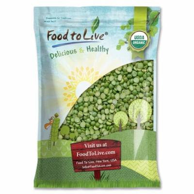 Organic Green Split Peas by Food to Live (Non-GMO, Kosher, Raw, Dried, Great for Pea Soup, High in Protein and Fiber, Bulk, Product of Canada) — 5 Pounds