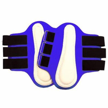Intrepid International 245845 Small Splint Boots with White Leather Patches, Royal Blue