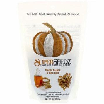 Superseedz Gourmet Pumpkin Seeds Maple Sugar and Sea Salt Case of 6 5 oz.