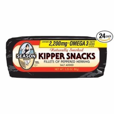 Season Brand Kipper Snacks Salt Added Case of 24 3.25 oz.