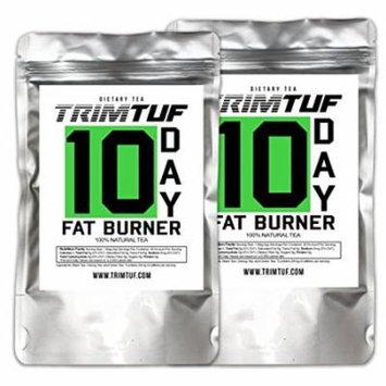 2 packs Trimtuf.weight loss detox,cleanse and Fat Burner Tea