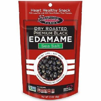 Seapoint Farms Dry Roasted Premium Black Edamame Sea Salt Case of 12 3.5 oz.