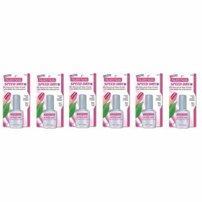 Nutra Nail Speed Dry 30 Second Top Coat with Green Tea Antioxidants (Pack of 6)