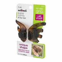 No-Slip Grip Hair Clip Uniq Shape Black/Dark Brown