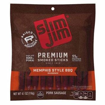 Slim Jim Premium Smoked Sticks, Memphis Style BBQ Flavor, 4.1 Oz. Bag