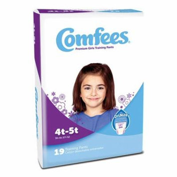 Comfees Girl Training Pants Size 4T5T pack of 19