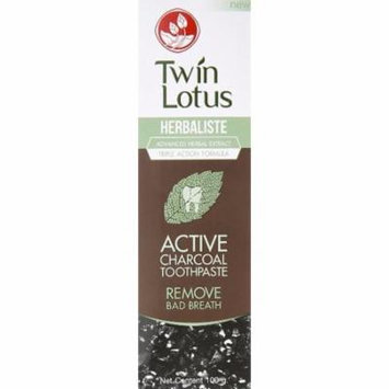 Twin Lotus Active Charcoal Toothpaste Herbaliste Triple Action 100g
