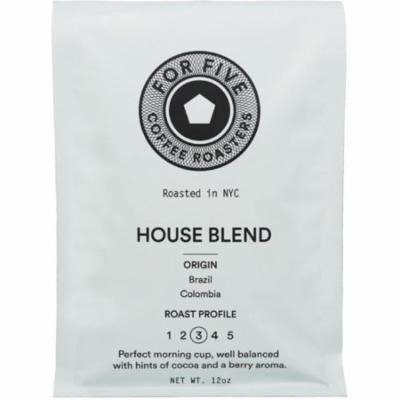 For Five House Blend Whole Bean 12 oz
