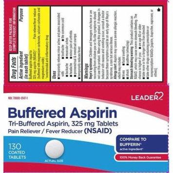 Leader Tri-Buffered Aspirin Coated Tabs, 325mg, 130ct 096295129618A245