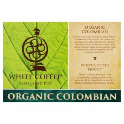 White Coffee Organic Colombian Coffee Case of 4 10 Count