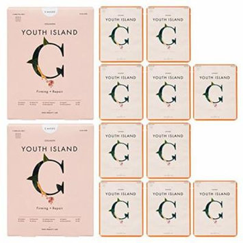 Rael Youth Island Face Mask Sheet With Collagen (5 Sheets) 2 Packs/10 total: Firming and Lifting Face Mask for Fine Lines, Wrinkles and Aging skin. Best for skin with signs of premature aging.