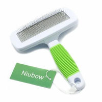 Niubow Professional Quality Pet Slicker Brush with Coated Pin Tips for Dogs & Cats - Gently Removes Mats & Loose Dead Hair Easily