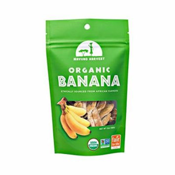 Mavuno Harvest Organic Gluten Free Dried Banana Case of 6 2 oz.