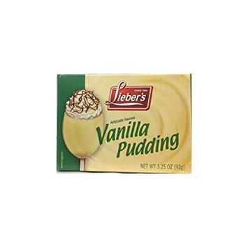 Lieber's Artificially Flavored Vanilla Pudding Kosher For Passover 3.25 Oz. Pack Of 3.