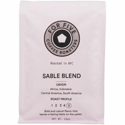 6 Pack - For Five Sable Blend Whole Bean 12 oz