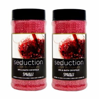 Spazazz Aromatherapy Spa and Bath Crystals - Love Potion#9 17 oz (2 Pack)