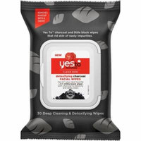 2 Pack - Yes To Detoxifying Charcoal Facial Wipes, Tomatoes 30 ea