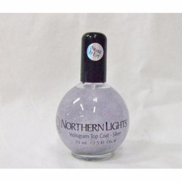 INM Nail Northern Lights Hologram SILVER Top Coat 2.5 oz/73mL