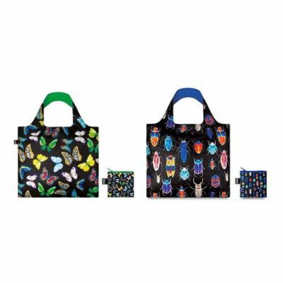 LOQI Wild Insects Reusable Shopping Bags (set of 2) - Butterfly & Insect