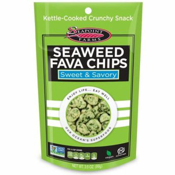 Seapoint Farms Seaweed Fava Chips Sweet and Savory Case of 12 3.5 oz.