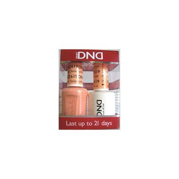 DND Nail Polish Gel & Matching Lacquer Set (619 - Sweet Apricot)