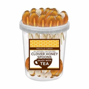 Melvilles Gourmet Hot Beverage Complements Clover Honey Spoons Stirrer. 30 count