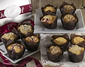 Dulcet Gift Baskets Dulcet Muffins Gift Basket - Includes 4 Delectable Flavors: Cranberry, Corn, .