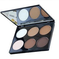 Ucanbe Cosmetics 6 Color Contour and Highlighting Powder Foundation Palette / Contouring Makeup Kit with Mirror,#2 []