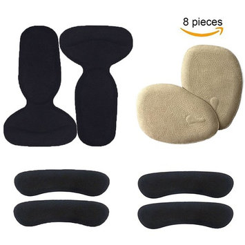 Women Heel Pads High Heel Inserts High Heels Back Insoles Cushions Blister Prevention Heel Grips Liners Anti Slip Shoe Cushion (Black)