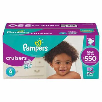 Cruisers Disposable Diapers Size 6, 112 Count, ECONOMY PACK PLUS