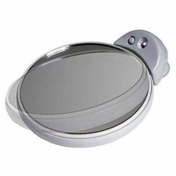 5X 10X Magnifcation Spot Mirror with Light - White and Gray