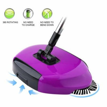Household Cleaning Dust Collector, Broom Sweeper, 360° Rotating Sweeping Brush Machine, Adjustable Handle, Portable Sweeper For Floor Tile Dust Cleaning Without Electricity