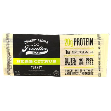 Country Archer Jerky, Frontier Bar, Turkey, Herb Citrus, 12 Bars, 1.5 oz (42 g) [Flavor : Turkey, Herb Citrus]
