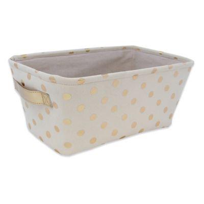 Closet Complete Metallic Canvas Diaper Caddy