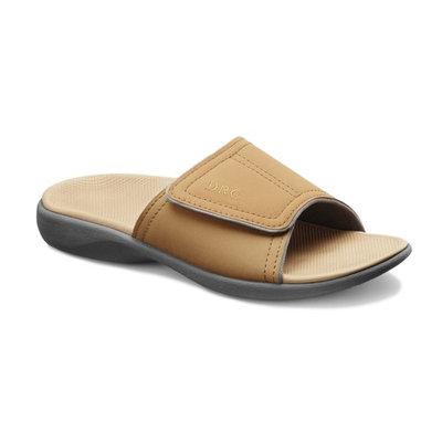 Dr. Comfort Connor Mens Supportive Slide Sandals Camel