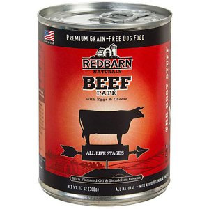 Redbarn Naturals Beef Pate All Stages Grain-Free Canned Dog Food, 13-oz, case of 12