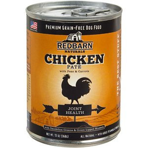 Redbarn Naturals Chicken Pate Joint Health Grain-Free Canned Dog Food, 13-oz, case of 12