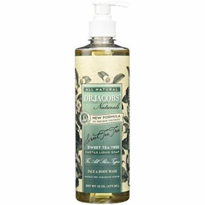Dr. Jacobs Naturals Face & Body Wash, Sweet Tea Tree, 16 Ounce