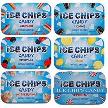 ICE CHIPS Xylitol Candy Variety Pack (6 Tins)