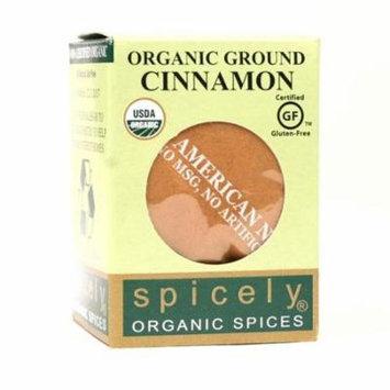 Spicely Organics Ground Cassia Cinnamon, .45 Ounces