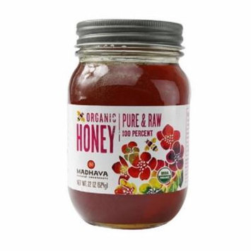 Madhava Honey Organic Pure and Raw Honey Case of 6 22 oz.