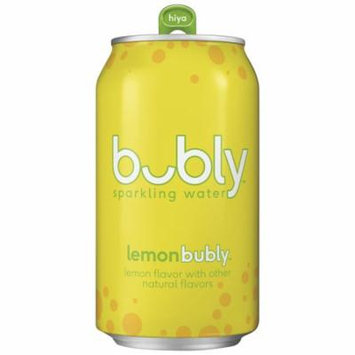 bubly Sparkling Water, Lemon, 12 oz Cans (Pack of 18)