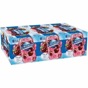 Ice Mountain Sparkling Natural Spring Water, Black Cherry, 12 Fl Oz, 24 Count