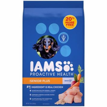 IAMS ProActive Health Senior Plus Dry Dog Food for All Dogs, Chicken, 15 Pound Bag