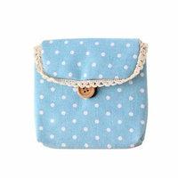 Mosunx Girl Cotton Diaper Sanitary Napkin Package Bag Storage Organizer BU
