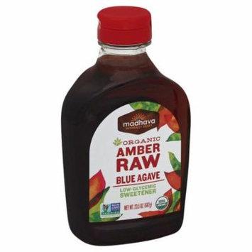 Madhava Honey Organic Agave Nectar Amber Case of 6 23.5 oz.
