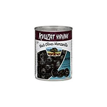 Kvuzat Yavne Black Olives Manzanillo Pitted KFP 19 Oz. Pack Of 3.
