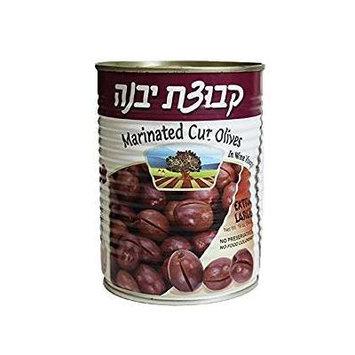 Kvuzat Yavne Marinated Cut Olives In Wine Vinegar XL, KFP 19 Oz. Pk Of 3.