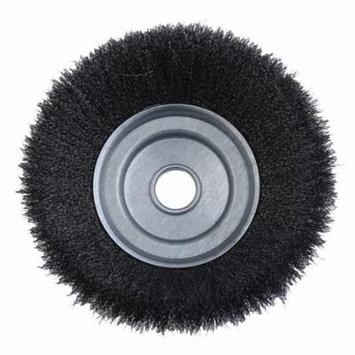 25.4x200mm Curved Steel Wire Weed Brush Head Grout Brush Replace Accessory